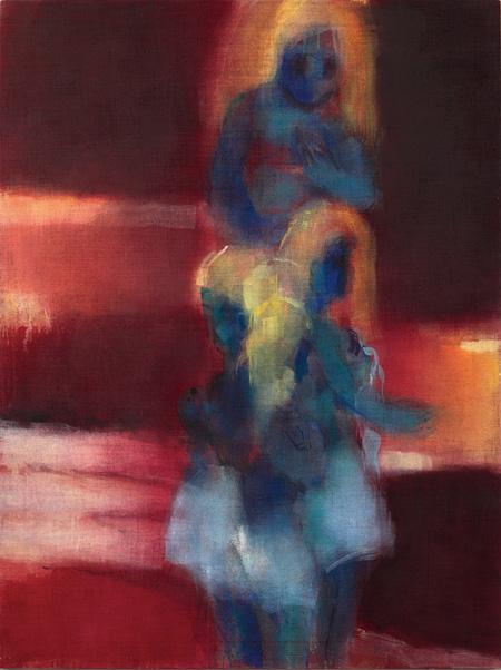 イケムラレイコ《赤の中の青い人物像》2007年、個人蔵 photo: Philipp von Matt