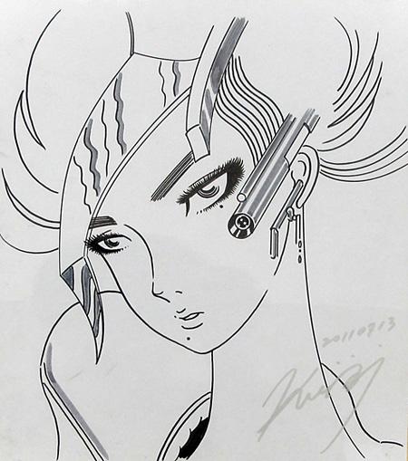 水野健一郎「autograffiti for waitingroom」, 2011 色紙、マーカー、24.2 x 27.2 cm
