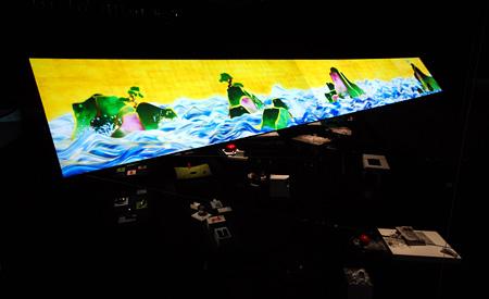 チームラボ+柳原照弘「百年海図巻 アニメーションのジオラマ」 撮影:K.Nagasawa