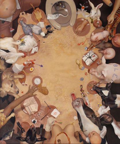 藤原由葵《TABLE COLOSSEUM》2003-04 杉山 照治蔵
