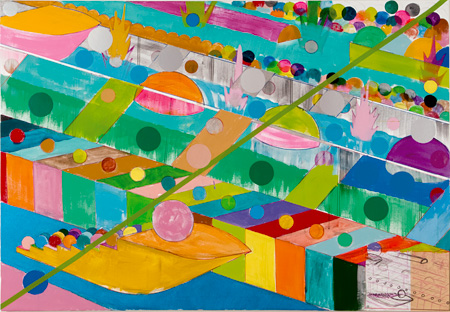 Yuichi Yokoyama『Color Engineering 98-99』Acrylic on canvas 1120 ×1620 mm 2010