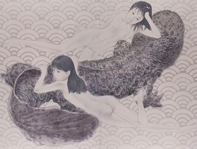 会田誠 「大山椒魚」 2003 パネル、アクリル絵具 314×420cm 撮影:木奥恵三 高橋コレクション ©AIDA Makoto Courtesy Mizuma Art Gallery