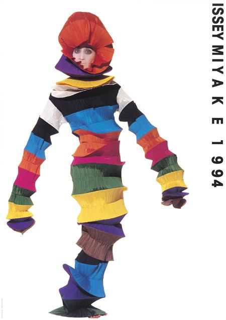 ISSEY MIYAKEコレクションポスター、1994年SS(写真:アーヴィング・ペン、ポスターデザイン・タイポグラフィ:田中一光 Photograph copyright by The Irving Penn Foundation