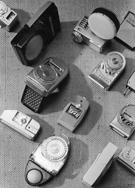 株式会社セコニック≪露出計など≫ 1950年代 デザイン:秋岡芳夫、KAK 写真撮影:KAK