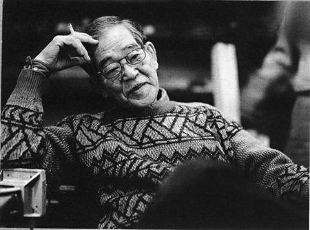 秋岡芳夫 目黒ドマにて 1996年頃 撮影:森茂宏