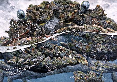 池田学『領域』2004 42×59.5cm 紙にペン、インク 高橋コレクション ©IKEDA Manabu Courtesy Mizuma Art Gallery