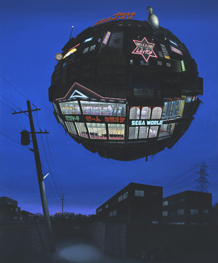 指江昌克『MONSTER』キャンバス、油彩 194x162cm 撮影:宮島径