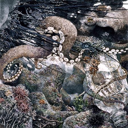 池田学『蛸』 2004 30×30cm 紙にペン、インク ©IKEDA Manabu Courtesy Mizuma Art Gallery