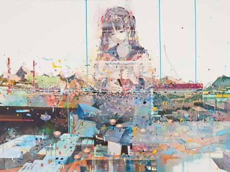 『ときとし』 2011年 97×130.3cm キャンバスにアクリル、色鉛筆 neutron tokyo 撮影:木田光重
