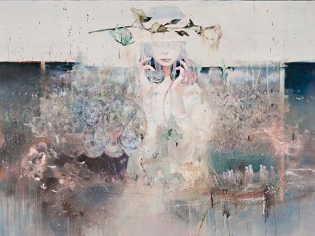 『妙濁の果て』(みょうだくのはて) 2011年 97×130.3cm キャンバスにアクリル、油彩、鉛筆 neutron tokyo 撮影:木田光重