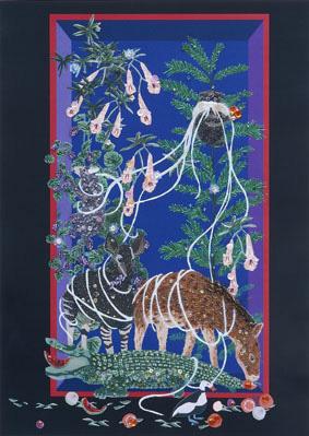 清川あさみ『もうひとつの場所』より 『エンペラータマリンの箱』2011年