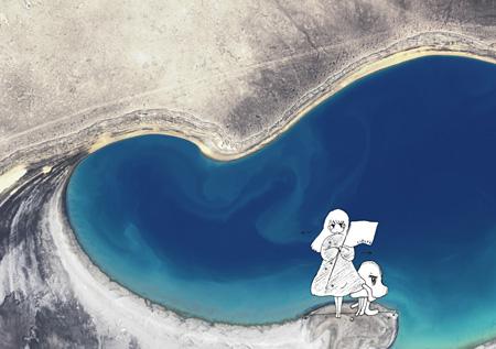 やくしまるえつこ と d.v.d『Gurugle Earth』ビジュアルカード