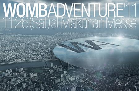 『WOMB ADVENTURE'11』キービジュアル