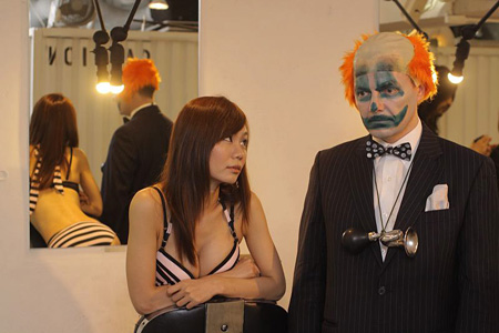 Sad-Clown and The Lovely Assistant 2011 Photo: Jon Ellis ©Jack McLean Courtesy of ArtGigTokyo