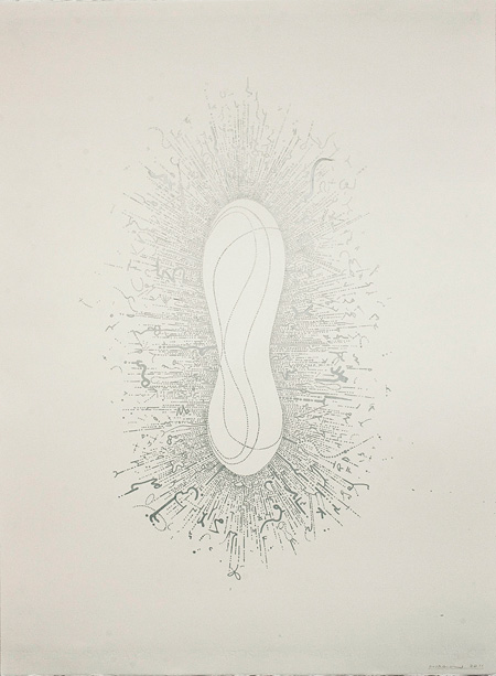 Deciphering the Light #22 2011 silver marker on Fabriano paper 760 x 560 mm ©Hiraku Suzuki