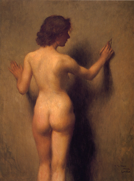原撫松《裸婦》1906(明治39)年 油彩・キャンバス 130.5×97.8cm 東京藝術大学