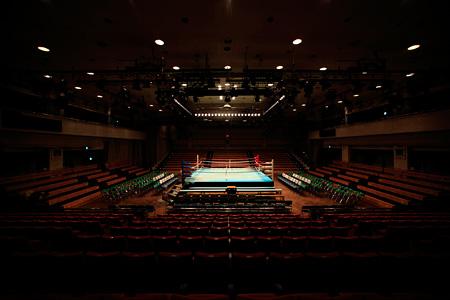 『BOYCOTT RHYTHM MACHINE VERSUS LIVE 2012』会場となる後楽園ホール