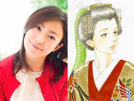 左:菅野美穂、右:徳川綱吉