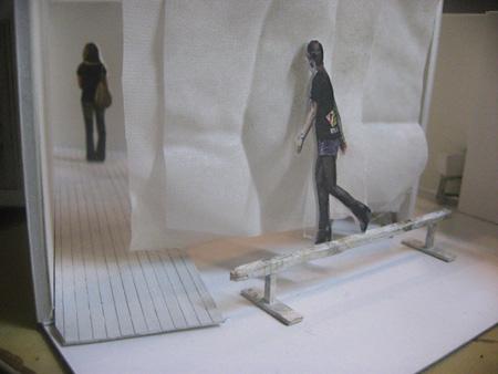 会場イメージ模型図『心の箱』