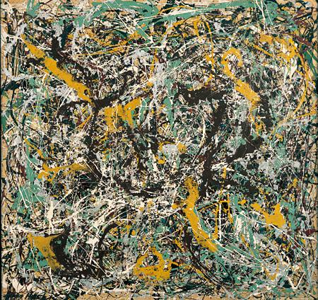 ジャクソン・ポロック『ナンバー11, 1949』 1949年インディアナ大学美術館©2011, Indiana University Art Museum