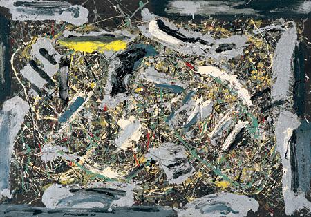 ジャクソン・ポロック『ナンバー9』 1950年 セゾン現代美術館