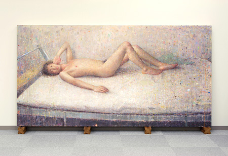 梅津庸一『フロレアル』 2004-2007, 板 綿布、油彩, 119.3 x 229.6 cm copyright the artist, courtesy ARATANIURANO