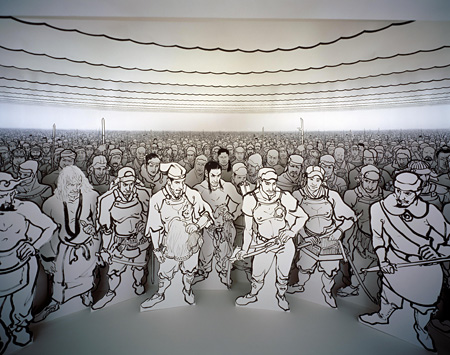 ラグランジュポイント / 2006 / 鉛筆、墨、紙、ベニヤ / 約500×500×250cm / 撮影:木奥恵三 ©YAMAGUCHI Akira / Courtesy Mizuma Art Gallery