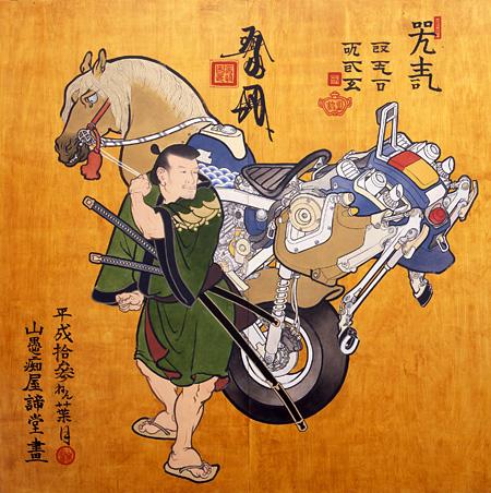 絵馬圖 / 2001 / シナベニヤに油彩、ニス / 182.5×183 cm / 撮影:澤柳英行 ©YAMAGUCHI Akira / Courtesy Mizuma Art Gallery