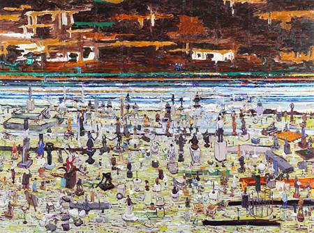 桑久保徹 《彫刻室》 2010年 194×259cm 油彩・キャンバス ©Toru Kuwakubo , courtesy of Tomio Koyama Gallery