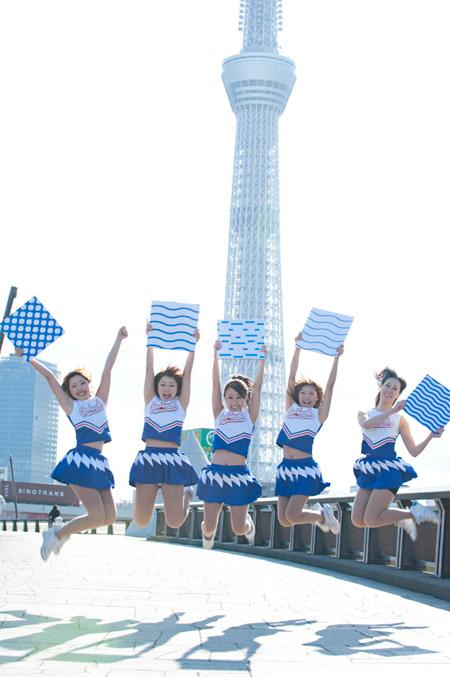 『すみだがわチアリーダーズパレード』イメージ画像 写真 後藤武浩(ゆかい)
