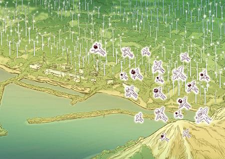 しりあがり寿『海辺の村 discontinuous day』より ©しりあがり寿/エンターブレイン