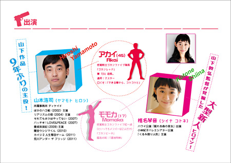 『エアーズロック』主演の山本浩司(左)と椎名琴音(右)
