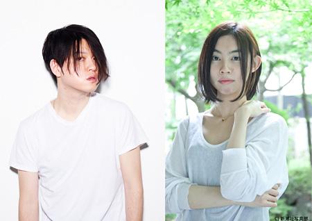 写真左:渋谷慶一郎、写真右:朝吹真理子(撮影・新潮社写真部)