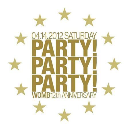 WOMB 12TH ANNIVERSARY『PARTY! PARTY! PARTY!』ロゴ