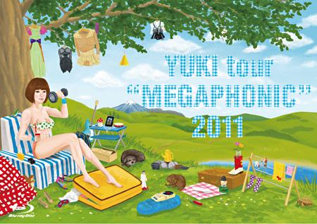 """YUKI『YUKI tour """"MEGAPHONIC"""" 2011』Blu-ray ジャケット"""