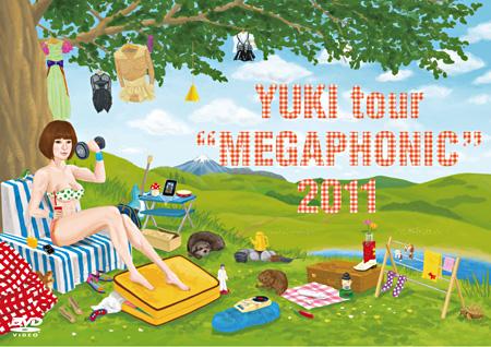 """YUKI『YUKI tour """"MEGAPHONIC"""" 2011』DVD ジャケット"""