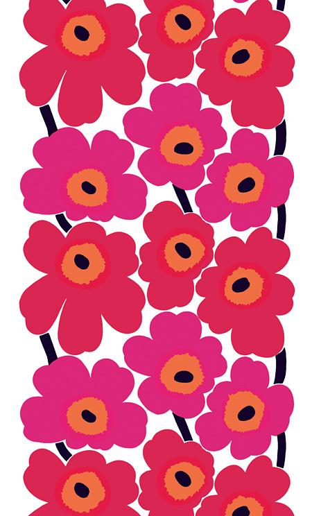 マイヤ・イソラ《生地「ウニッコ」》現行製品(デザイン1964年) ©Marimekko Corporation