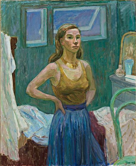トーヴェ・ヤンソン《若い女性(自画像)》 1942 スオミ相互生命保険会社 photo ©Rauno Träskelin ©Estate of Tove Jansson