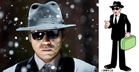 鏡の精役を演じる香川照之 ©赤塚不二夫/2012「映画 ひみつのアッコちゃん」製作委員会