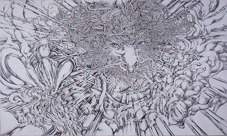 『いつおう』 pencil on canvas 2008 KYOTARO Courtesy Mizuma Art Gallery photo: Kei MIYAJIMA