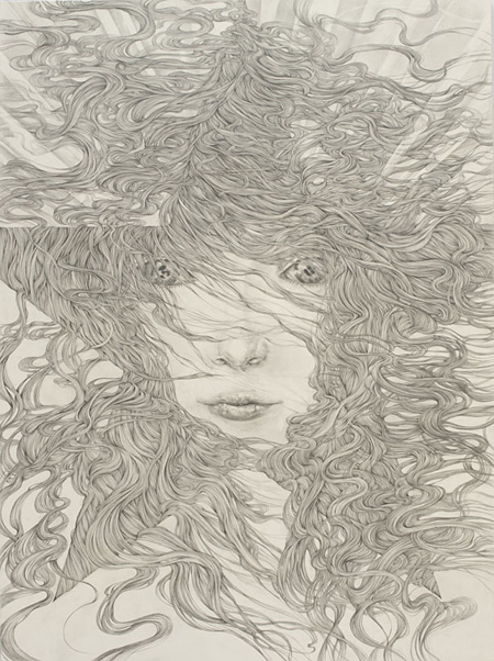 『星辰』 pencil on paper, panel 2011 KYOTARO Courtesy Mizuma Art Gallery photo: Kenji FUJIMAKI