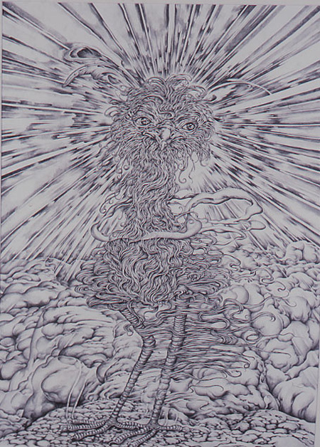 『からす天狗』 pencil on paper 2006 KYOTARO Courtesy Mizuma Art Gallery photo: Kei MIYAJIMA