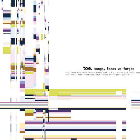 toe『songs,ideas we forgot』ジャケット