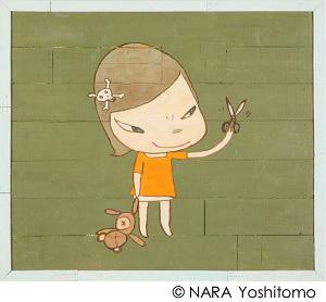 ≪Real One≫ 2012、アクリル・板 169.5×194.0×7.5cm ©NARA Yoshitomo 撮影:木奥惠三