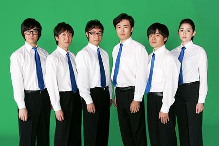 写真左から:東京03(豊本 明長、飯塚悟志、角田晃広)、劇団ひとり、バカリズム、早見あかり