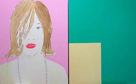南川史門 ≪乱れ髪、エリカ、緑、黄色≫ 2010年 ©Shimon Minamikawa Courtesy of MISAKO & ROSEN
