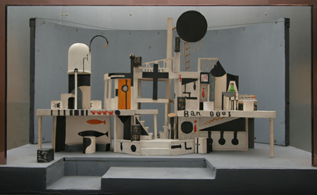 「朝から夜中まで」(1926年再演)舞台装置模型 1960年 ギャラリーTOM蔵