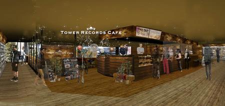 タワーレコード渋谷店2階「TOWER RECORDS CAFE」イメージ