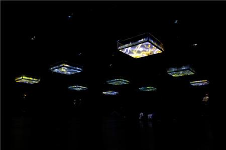 坂本龍一+高谷史郎『LIFE - fluid, invisible, inaudible…』 2007年 YCAM委嘱作品 Photo:丸尾隆一(YCAM) 写真提供:山口情報芸術センター [YCAM]【参考図版】