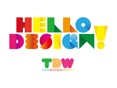 『TOKYO DESIGNERS WEEK 2012』メインロゴ
